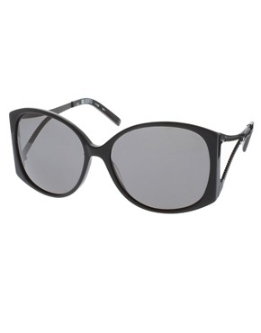 Image 1 ofKarl Lagerfeld Zip Arm Sunglasses