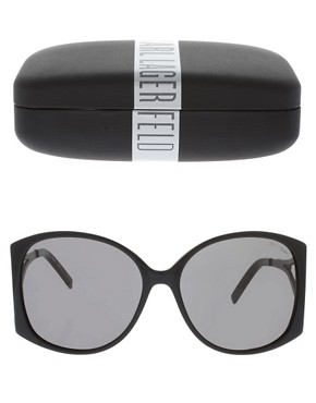 Image 2 ofKarl Lagerfeld Zip Arm Sunglasses