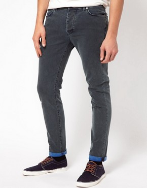 Image 1 ofASOS Skinny Jeans In Acid Wash