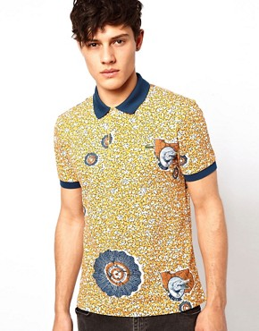 Image 1 of Lacoste Live Polo with Safari Print
