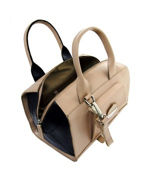 Image 2 ofASOS Leather Bowler Bag With Push Lock