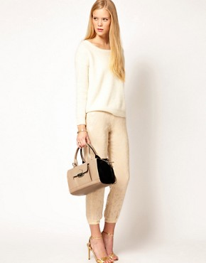 Image 3 ofASOS Leather Bowler Bag With Push Lock