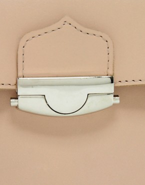 Image 4 ofASOS Leather Bowler Bag With Push Lock