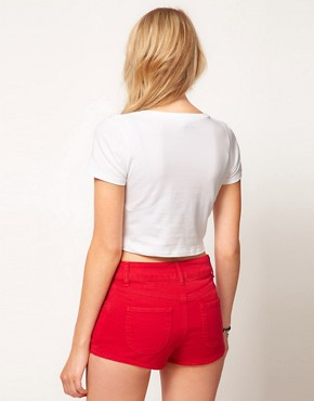 Image 2 ofASOS Crop T-Shirt with Union Jack Print