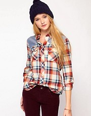 Bellfield Checked Shirt With Contrast Panels