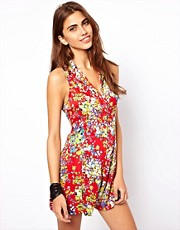 Motel Ditsy Floral Playsuit