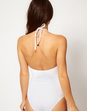 Image 2 ofSeventh Wonderland Arabella V Neck One Piece With Key Hole Detail