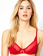 ASOS Boudoir Mesh Trim Underwired Bra