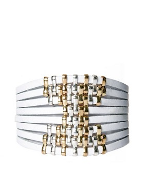 Image 1 ofTalullah Tu Leather Metallic Stud Bracelet