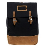 Fred Perry Suede Panel Backpack