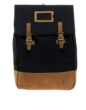 Image 1 ofFred Perry Suede Panel Backpack