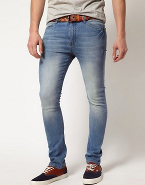 Image 1 ofASOS Super Skinny Jean In Light Blue