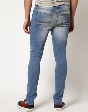 Image 2 ofASOS Super Skinny Jean In Light Blue