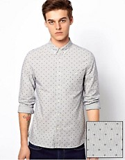 ASOS Stripe Shirt With Polka Dot Print
