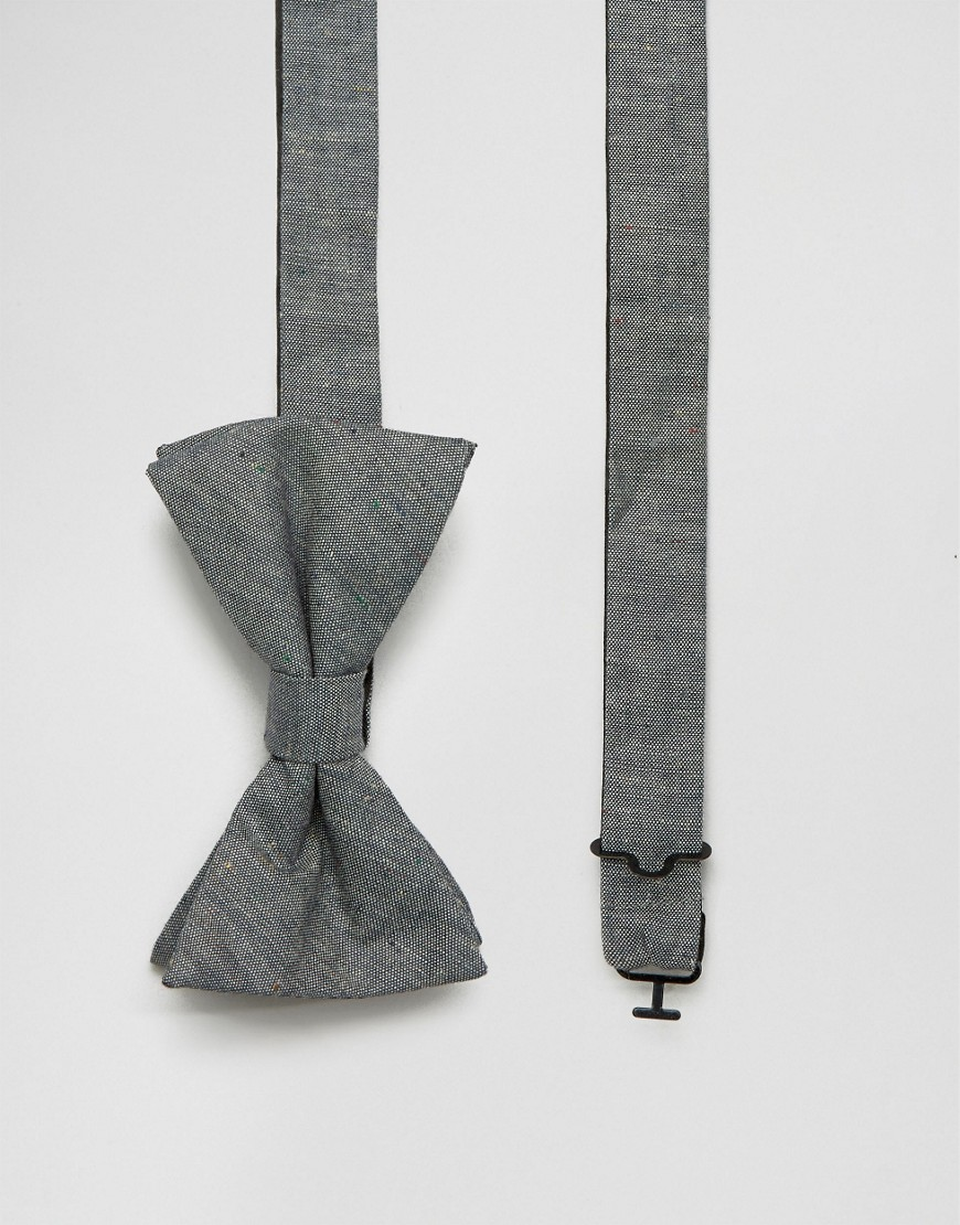 Серый галстук-бабочка из шамбре Original Penguin - Серый
