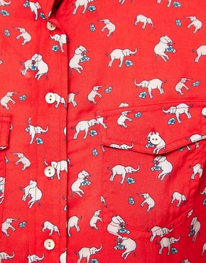 Image 3 of Paul and Joe Sister Elephant Print Shirt