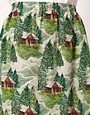 Image 3 ofPeter Jensen Slip Skirt in Lodge Print