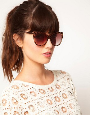 Image 3 ofASOS Tort Ridge Detail Cat Eye Sunglasses