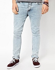 ASOS Skinny Jeans In Acid Wash.