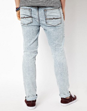Image 2 ofASOS Skinny Jeans In Acid Wash.