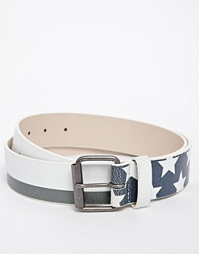 ASOS Jean Belt with Flag Print