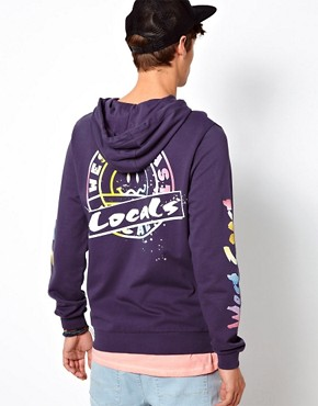 Image 2 ofASOS Hoodie With Printed Sleeves And Back