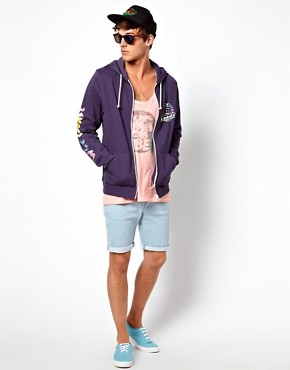 Image 4 ofASOS Hoodie With Printed Sleeves And Back