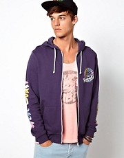 ASOS Hoodie With Printed Sleeves And Back