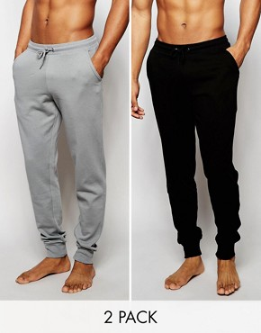 ASOS Loungewear Skinny Joggers 2 Pack SAVE 17 %
