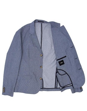 Image 3 ofASOS Slim Fit Stripe Blazer
