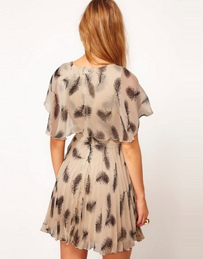 Image 2 ofRare Feather Print Tea Dress