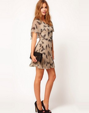 Image 4 ofRare Feather Print Tea Dress