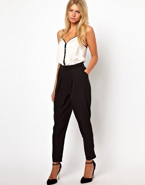 Image 1 ofASOS Peg Trousers with Soft Pleats