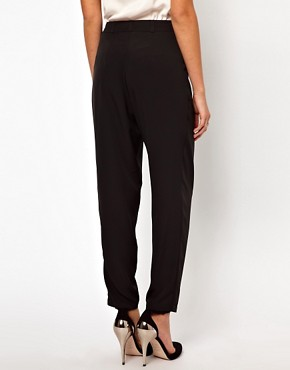 Image 2 ofASOS Peg Trousers with Soft Pleats