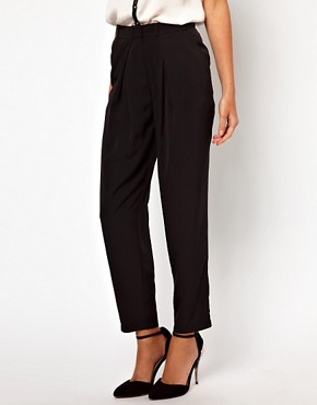 Image 4 ofASOS Peg Trousers with Soft Pleats