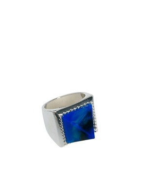 Image 1 of ASOS Pyramid Stone Ring