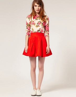 Image 1 ofASOS Full Mini Prom Skirt