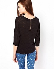 Vero Moda Slubby Zip Back Sweater