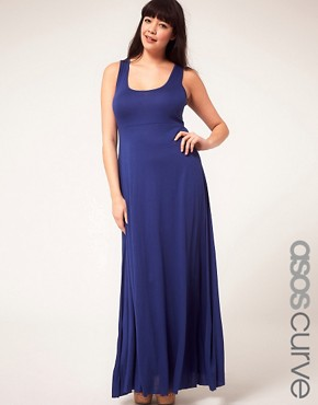 Image 1 ofASOS CURVE Exclusive Jersey Maxi Dress
