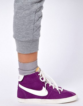 Image 3 ofNike Bruin Lite Mid Purple High Top Trainers