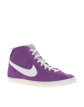 Image 1 ofNike Bruin Lite Mid Purple High Top Trainers
