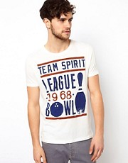 ASOS T-Shirt With Retro Bowling Print