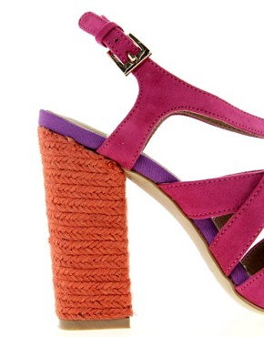 Image 3 ofCarvela Callula Multi Strap Heeled Shoe With Espadrille Heel