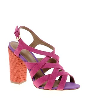 Image 1 ofCarvela Callula Multi Strap Heeled Shoe With Espadrille Heel