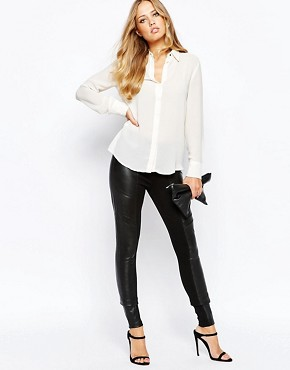 Y.A.S Asky Comb Leather Leggings