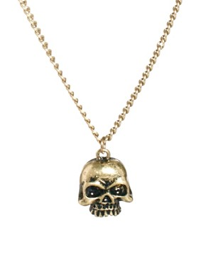 Image 1 ofASOS Skull Necklace