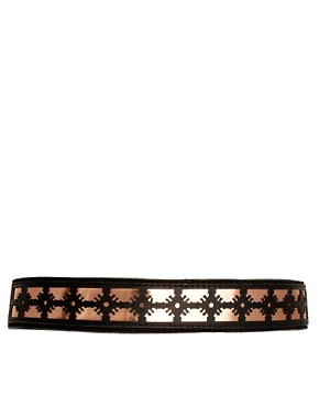 Image 1 ofSophia Kokosalaki For ASOS Leather Laser Cut Panel Belt