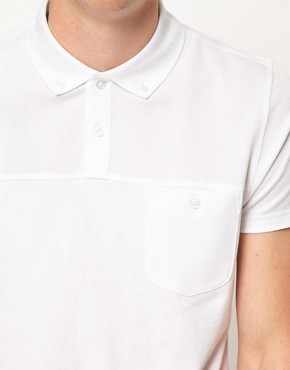 Image 3 ofBen Sherman Cut &amp; Sew Polo Shirt