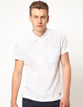 Image 1 ofBen Sherman Cut &amp; Sew Polo Shirt