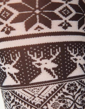 Image 2 ofASOS Opaque Fairisle Tights